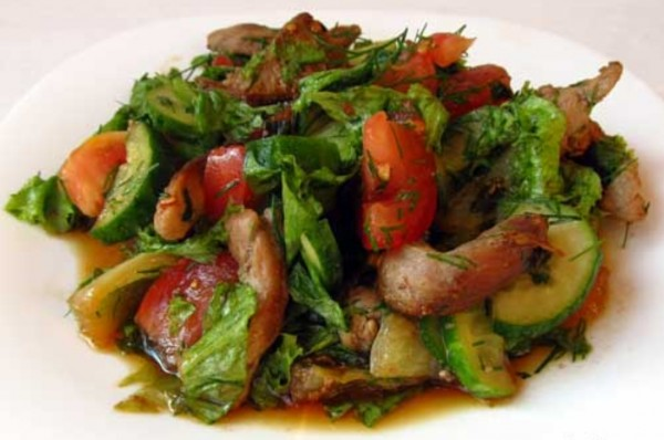 Салат перец огурец говядина соевый соус